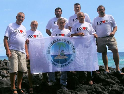 D64K Team waving the MDXC flag from Comoros Is.