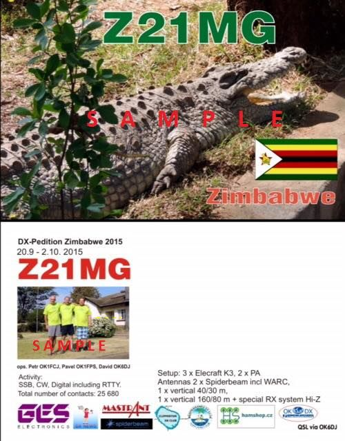 Z21MG QSL CARD